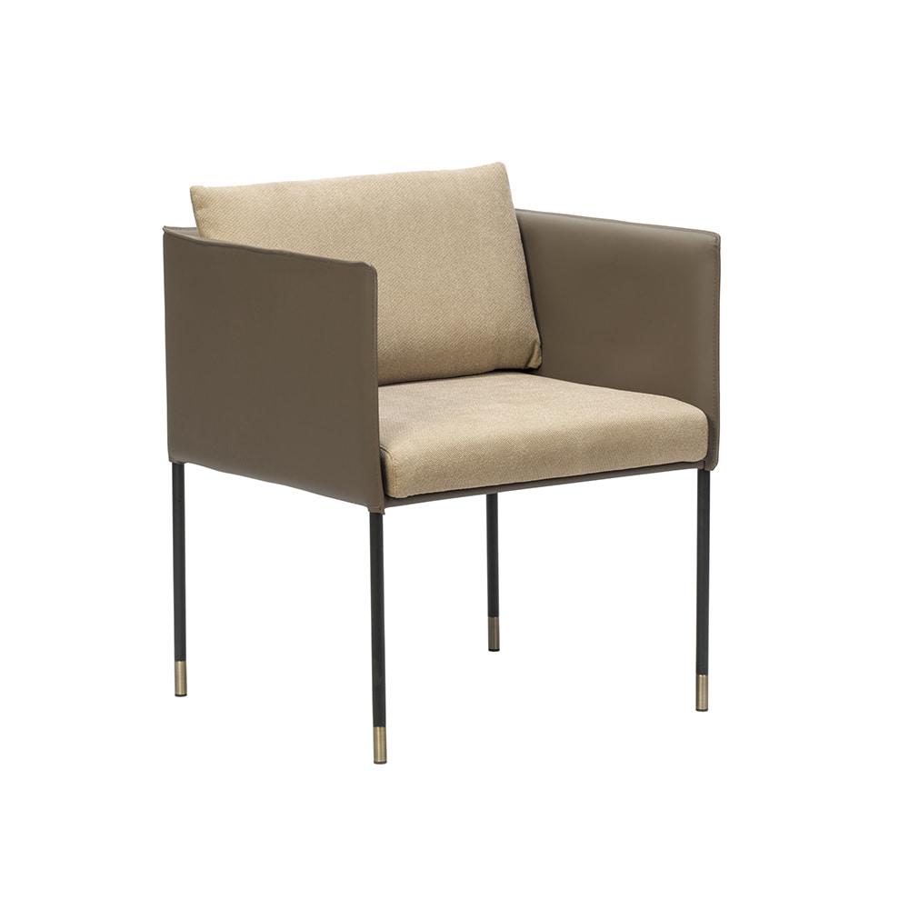 CH2362 W62*D58*H76 스퀘어암체어 / 디자인체어 인테리어의자 카페의자 안락의자 철제의자 가죽의자 하늘창가구주식회사 하늘창가구